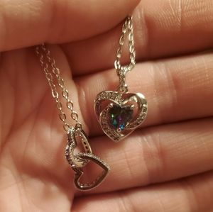 Fragrant Jewels heart necklaces